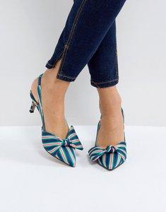 Read more about Asos susanna slingback kitten heels - stripe