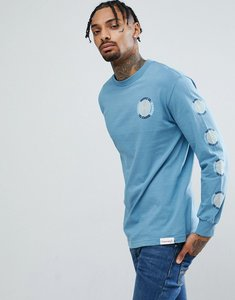 Read more about Diamond supply long sleeve t-shirt with spiral sleeve print in grey - grey