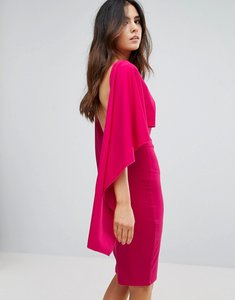Read more about City goddess midi dress with ruffle sleeve - cerise 77