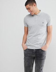 Read more about French connection plain polo shirt - light grey mel