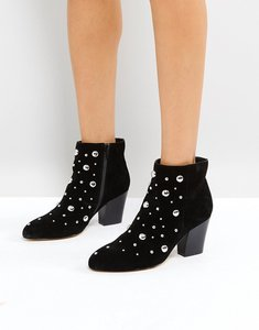 Read more about Office able leather studded boots - black