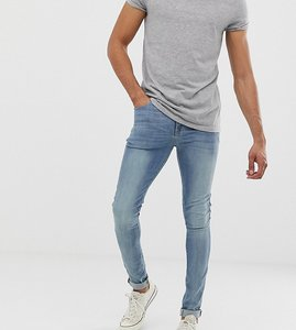 Read more about Asos tall super skinny jeans in light wash - light wash blue