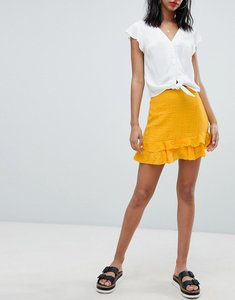 Read more about Missguided frill mini skirt - mustard