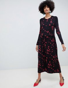 Read more about Selected femme floral high neck midi dress - floral print