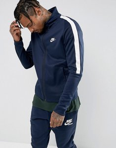 Read more about Nike tribute poly track jacket in navy 861648-451 - navy