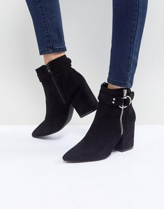 Read more about Raid audra black heeled ankle boots - black