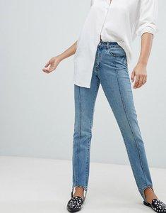 Read more about Vero moda stirrip straight leg jeans l32 - medium blue denim