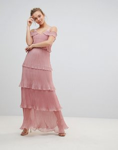 Read more about Glamorous ruffle maxi dress - dusty pink
