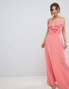 Read more about New look ruffle maxi dress - dark coral