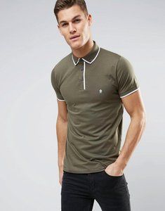Read more about French connection piping polo shirt - khaki
