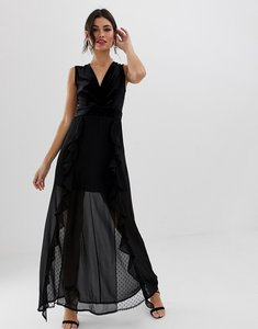Read more about Tfnc v neck maxi dress with lace insert