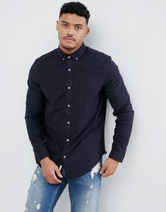 Read more about Original penguin slim fit button down collar oxford shirt with tonal logo in navy - dark sapphire