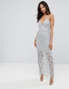 Read more about Ax paris grey lace maxi dress - grey