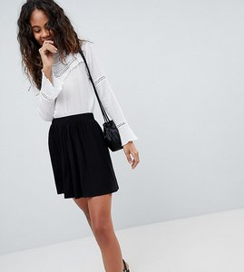 Read more about Asos design tall mini skater skirt - black
