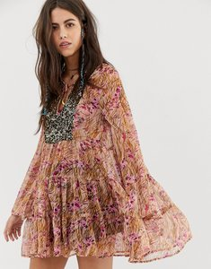 Read more about Aratta swing mini dress with embellished panel