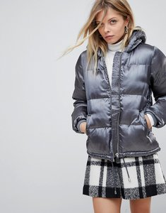 Read more about Qed london padded jacket - grey