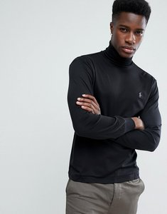Read more about Polo ralph lauren long sleeve pima roll neck t-shirt with polo player in black - black