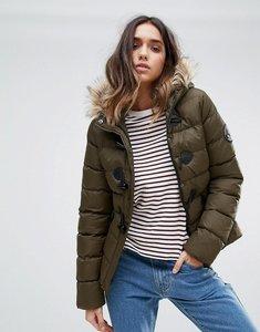 Read more about Brave soul short padded coat - olive