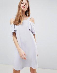 Read more about Glamorous cold shoulder shift dress - light grey