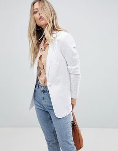 Read more about Asos tailored single breasted linen blazer - white