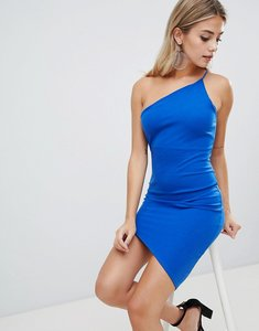 Read more about Missguided one shoulder asymmetric dress - blue