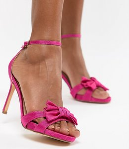 Read more about Coast bow sandal heel shoes - pink