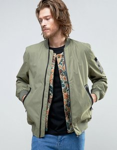 Read more about Element flight ma1 bomber jacket camo quilt detatchable liner in green - surplus