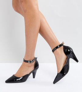 Read more about Raid lena black patent kitten heeled shoes - black