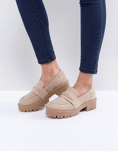 Read more about Asos oxo loafer chunky shoes - taupe