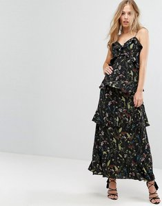 Read more about Forever new tiered frill maxi dress - black multi
