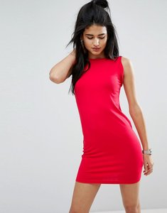 Read more about Asos sleeveless mini vest dress with twist arm detail - red
