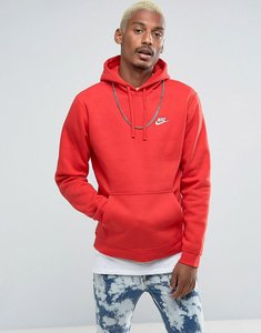Read more about Nike club pullover hoodie with swoosh logo in red 804346-657 - red