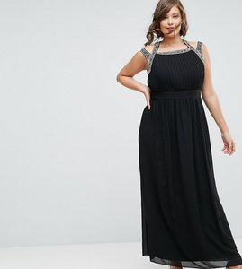 Read more about Tfnc plus wedding embellished back maxi dress - black