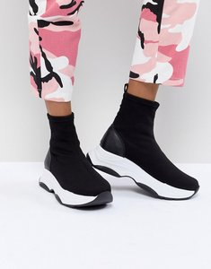 Read more about Asos design drill sock trainers - black