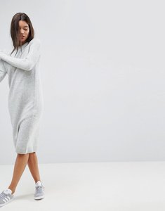 Read more about Asos chunky knit dress in wool mix - grey marl