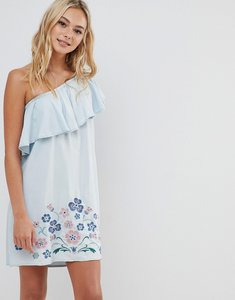 Read more about Urban bliss one shoulder dress with embroidery
