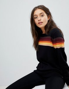 Read more about Wrangler knitted stripe jumper - black