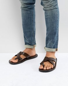 Read more about Pier one leather sandals in brown - brown