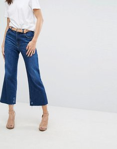 Read more about J brand joan high rise wide leg crop jeans - double take blue
