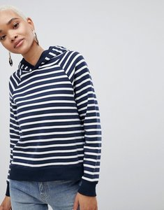 Read more about Selected striped over head hoodie - navy