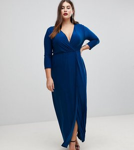 Read more about Club l plus frill dress with tie detail - blue