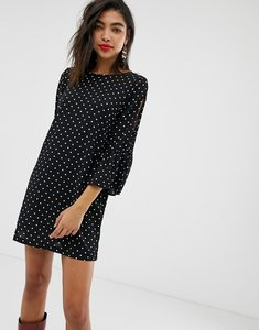 Read more about New look spot tunic dress with tie sleeves
