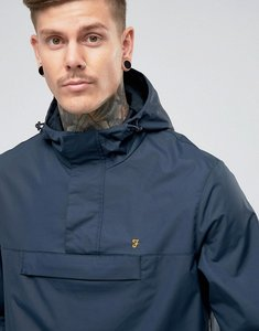 Read more about Farah clydesdale over head hooded jacket in navy - true navy 412
