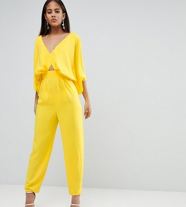 Read more about Asos design tall jumpsuit with kimono sleeve and peg leg - yellow