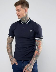 Read more about Fred perry reissues tipped polo shirt in navy - navy 797