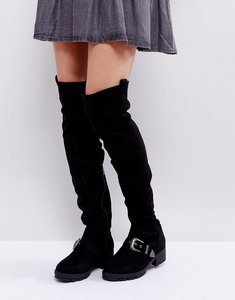 Read more about Truffle collection flat chunky over the knee boots