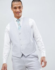 Read more about French connection wedding linen slim fit waistcoat - light grey