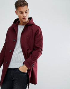 Read more about Asos shower resistant smart jacket in burgundy - burgundy