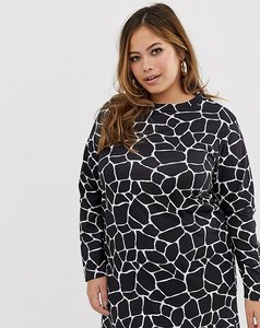 Read more about Pink clove long sleeve t-shirt dress in giraffe print