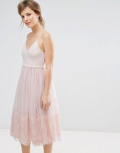 Read more about New look tulle midi prom dress - nude